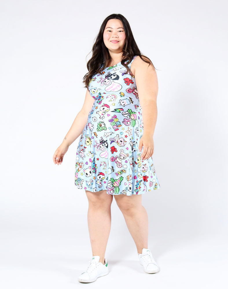 Denim Daze Skater Dress Front 2