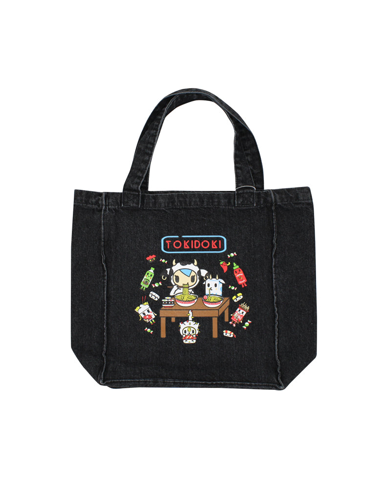 tokidoki-Con Cravings Denim Tote Side 1