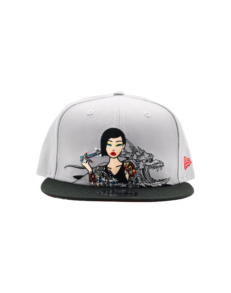 Diamond Chopsticks Snapback front