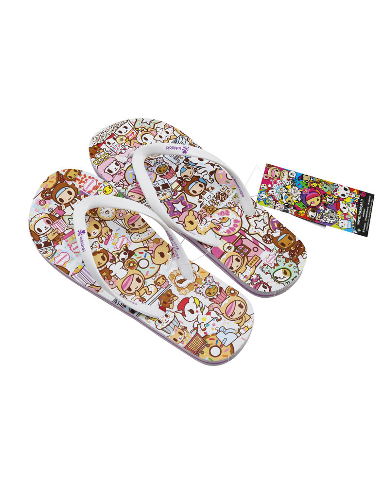 Donutella's Sweet Shop Women's Flip Flop Sandals from above