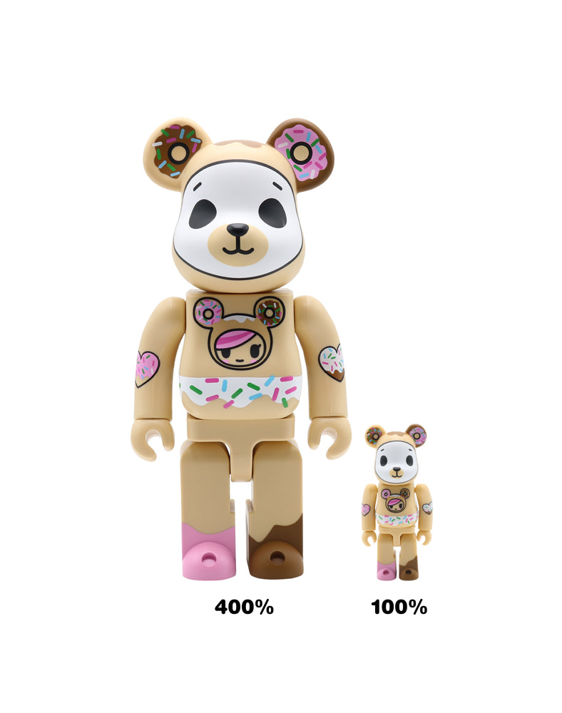 tokidoki x Be@rbrick Biscotti Sizes