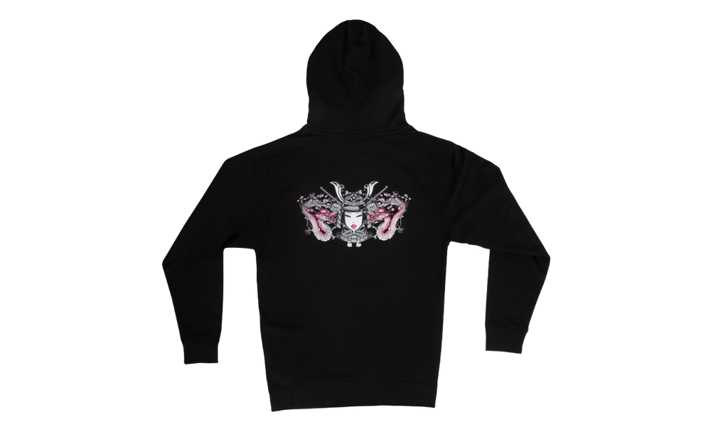 Double Dragon Unisex Hoodie Back