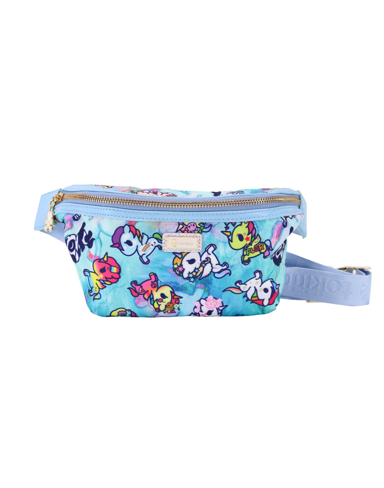 Watercolor Paradise Fanny Pack front