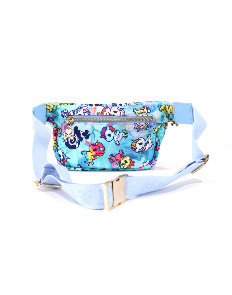 Watercolor Paradise Fanny Pack back