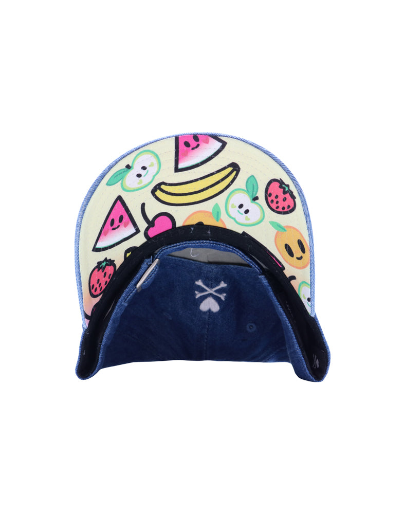 Fruity Adjustable Dad Hat brim underside