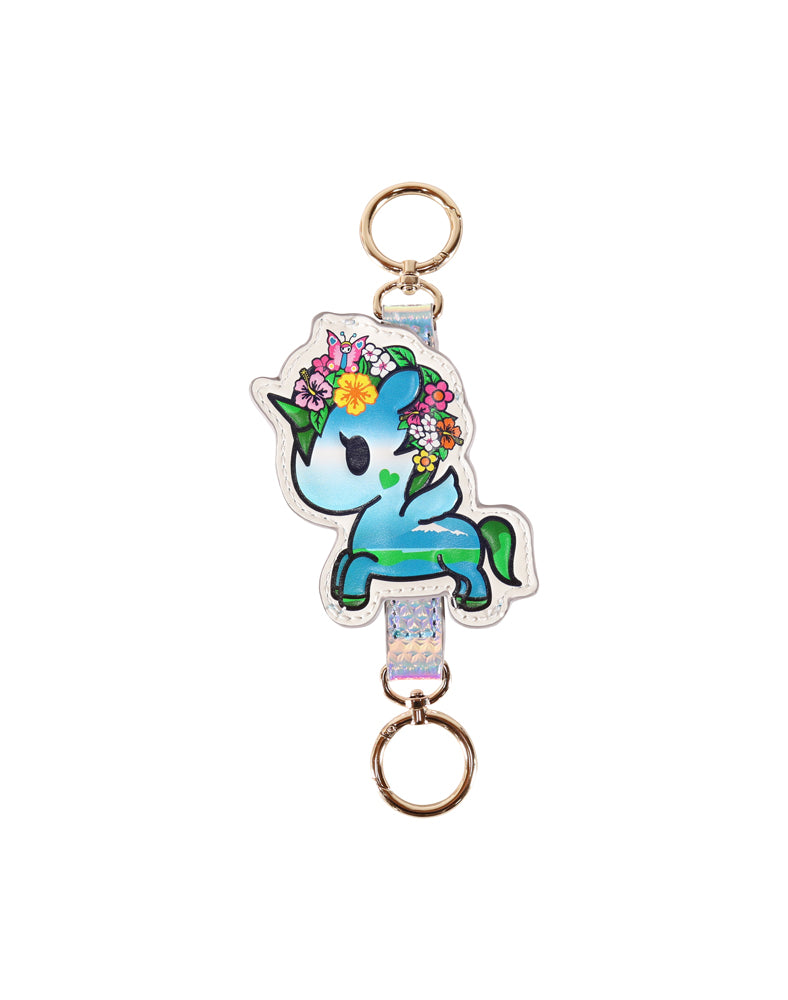 Watercolor Paradise Gaia Keychain front