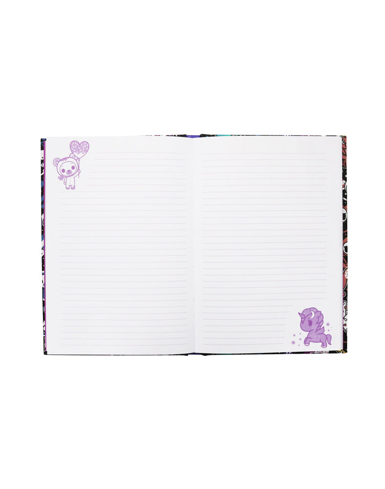 tokidoki Galactic Dreams Hard Cover Notebook Pages