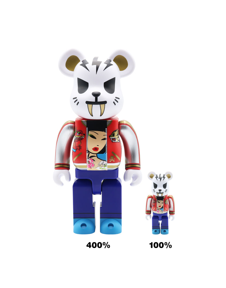 tokidoki x Be@rbrick Electric Tiger Sizes