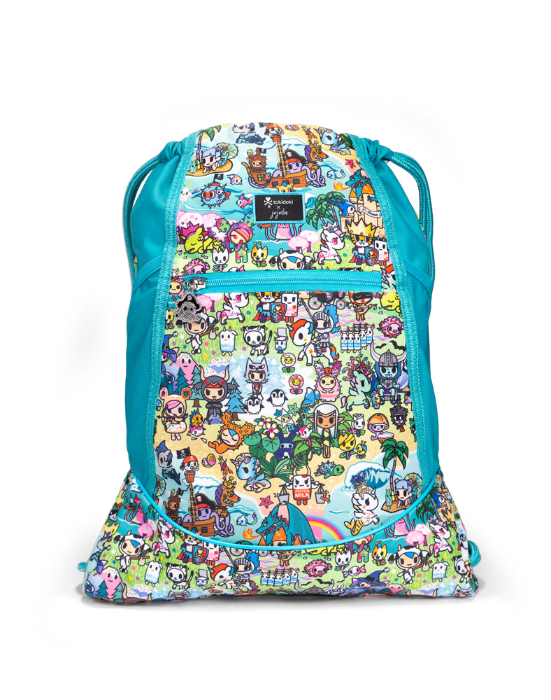 tokidoki x JuJuBe Grab and Go Drawstring Backpack Fantasy Paradise Front