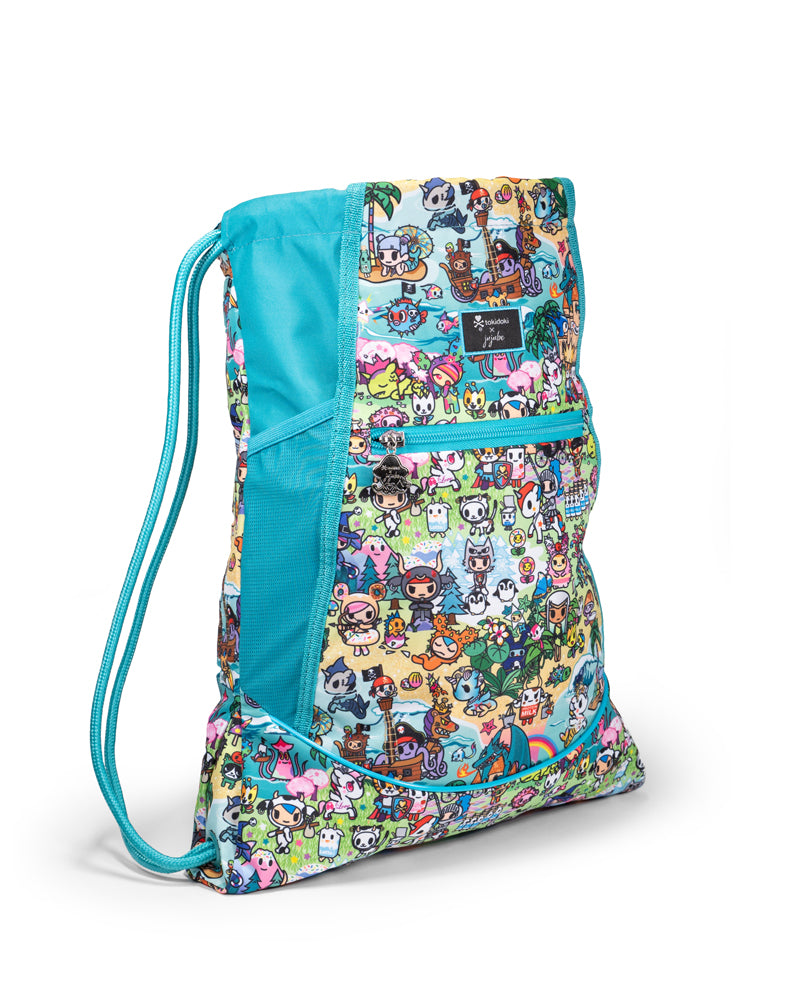tokidoki x JuJuBe Grab and Go Drawstring Backpack Fantasy Paradise Side