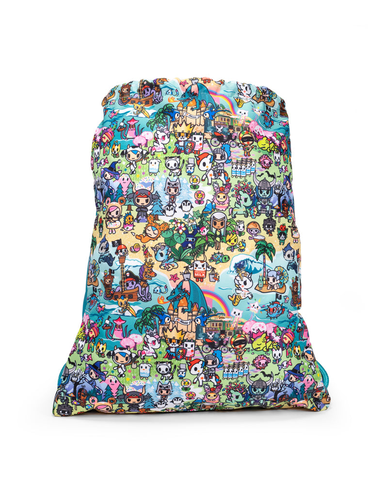 tokidoki x JuJuBe Grab and Go Drawstring Backpack Fantasy Paradise Back