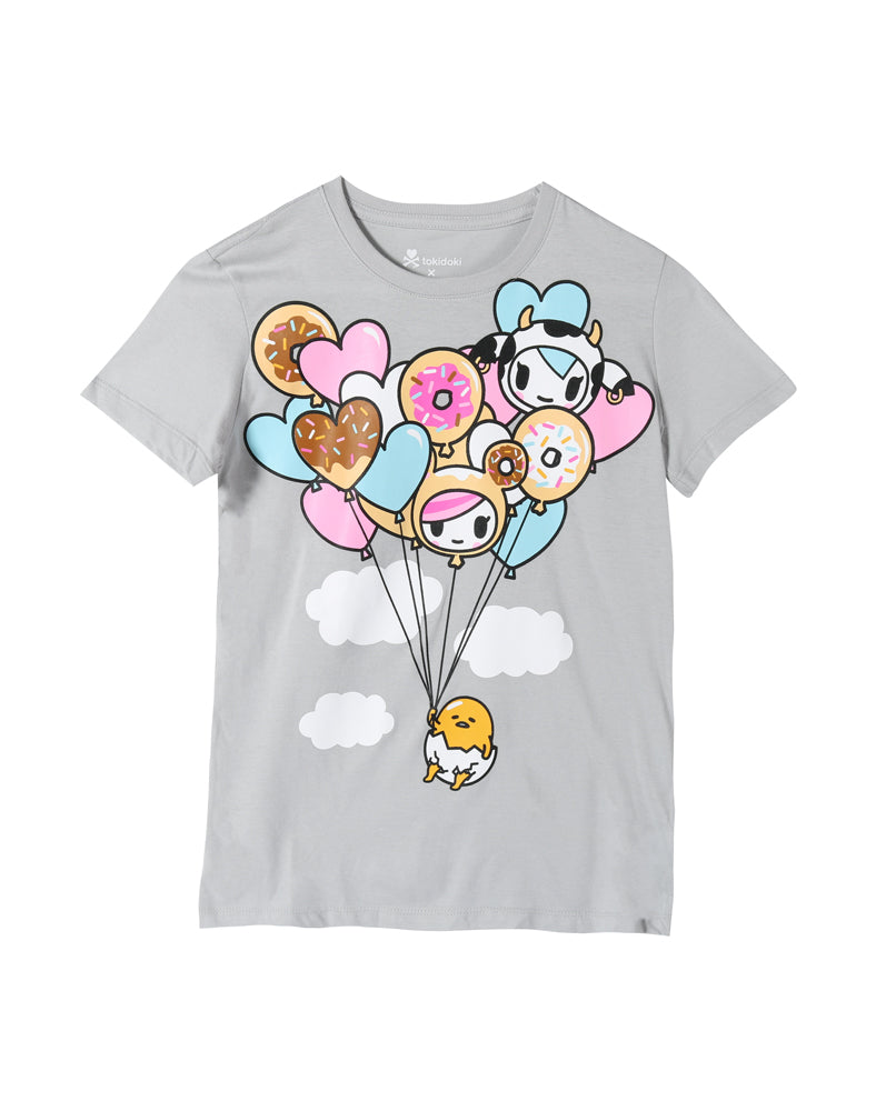 tokidoki x gudetama Gudetama Float On Tee Front