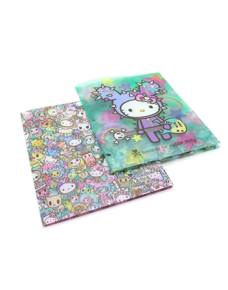 tokidoki x Hello Kitty Rainbow Folder Set