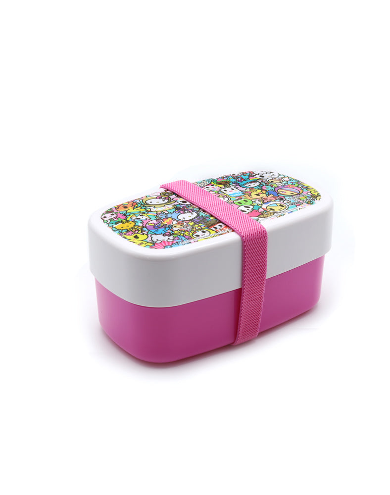 tokidoki x Hello Kitty Rainbow Lunch Container Outside