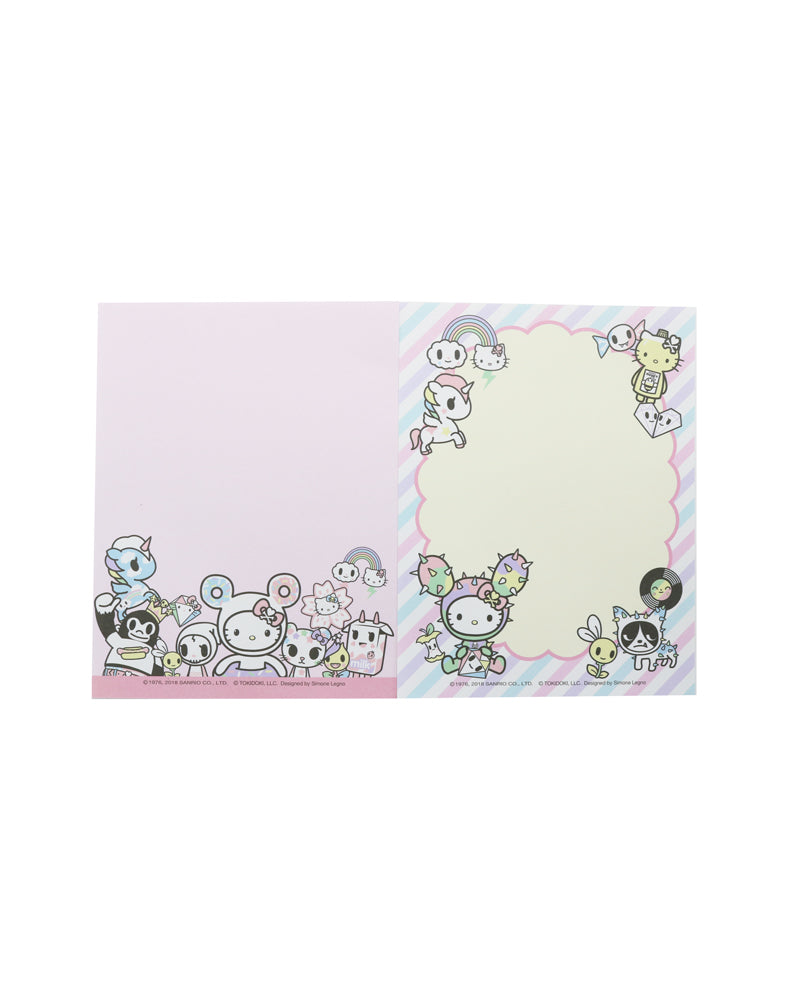 tokidoki x Hello Kitty Pastel Memo Pad (Mint) inside