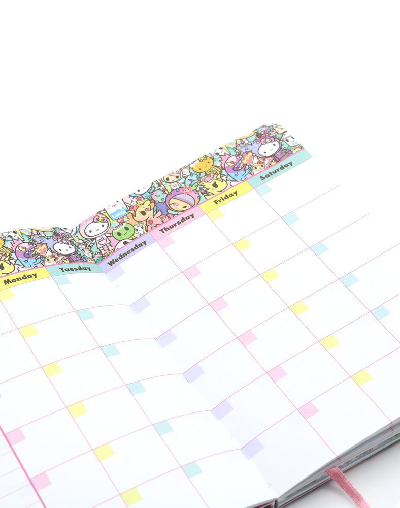tokidoki x Hello Kitty Rainbow Journal Inside