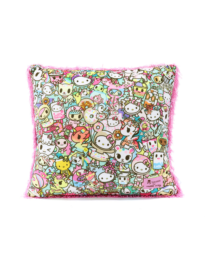 tokidoki x Hello Kitty Rainbow Cushion