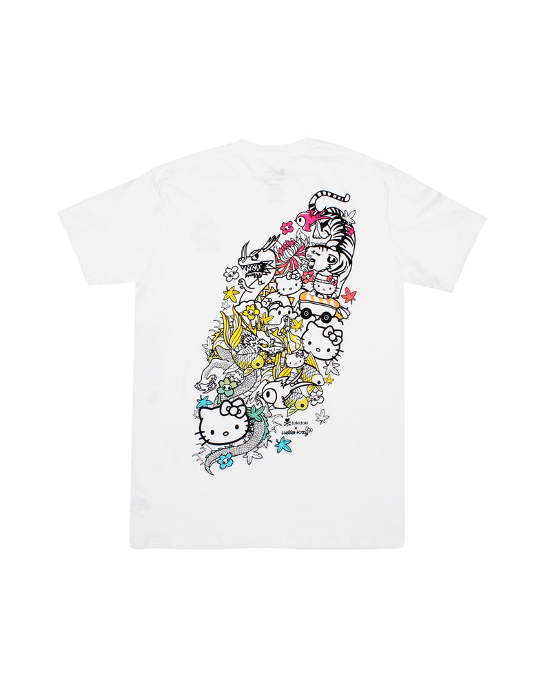 tokidoki-Con tokidoki x Hello Kitty Hello Kitty Rush Tee (Unisex) Back