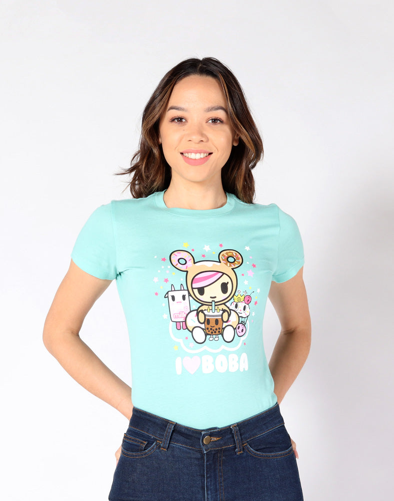 I Love Boba Tee front