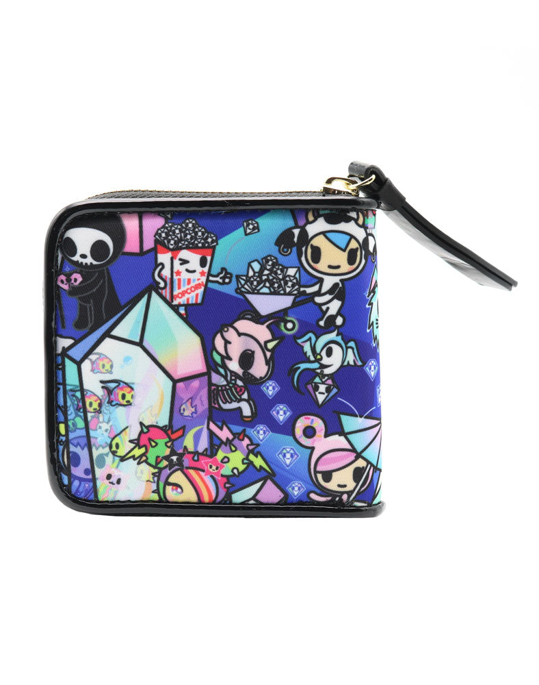 Crystal Kingdom Small Zip Around Wallet Back