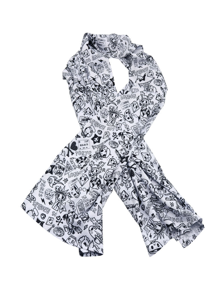 tokidoki Monochrome Travel Scarf