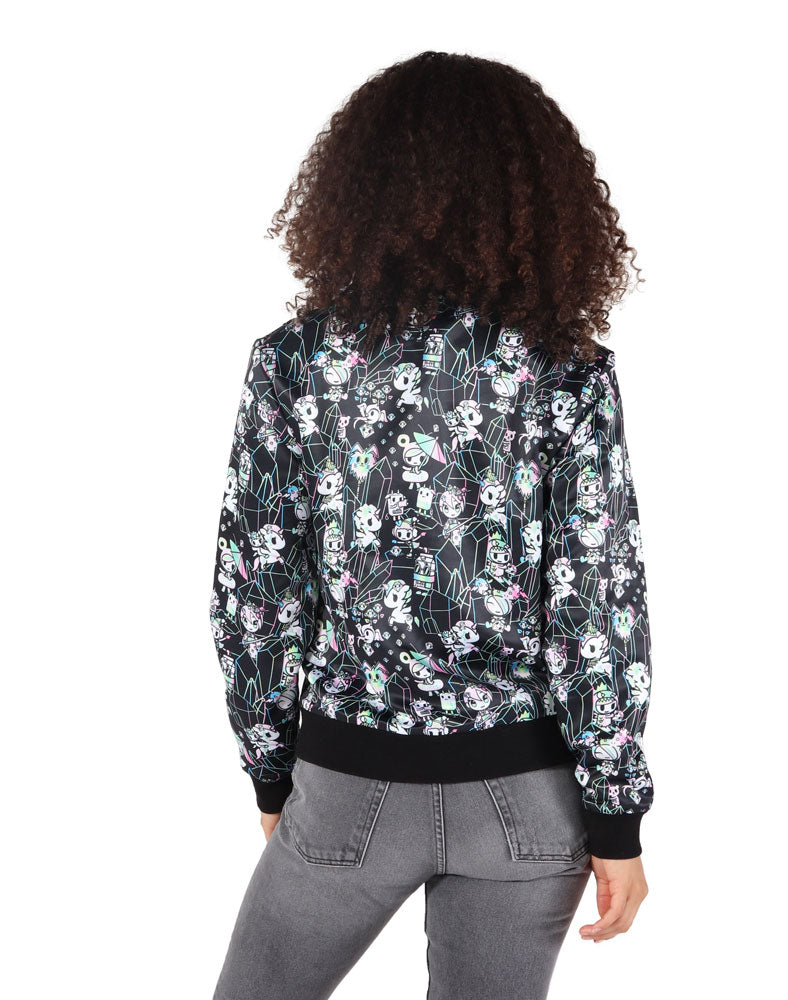 Crystal Palace Satin Bomber Jacket Back