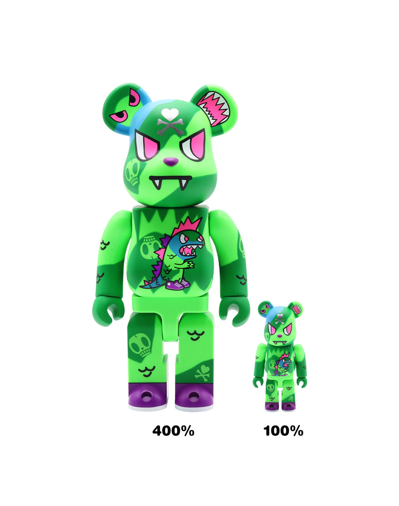 tokidoki x Be@rbrick Electic Tiger Sizes