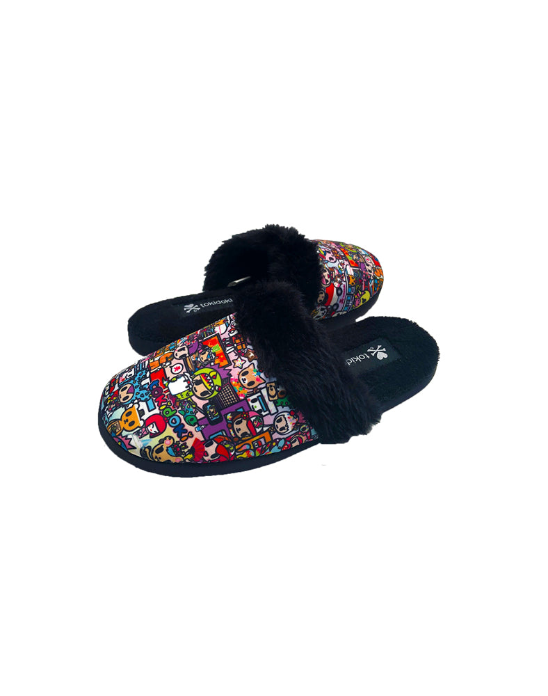 Kawaii Metropolis Women's Soft Slippers Side View
