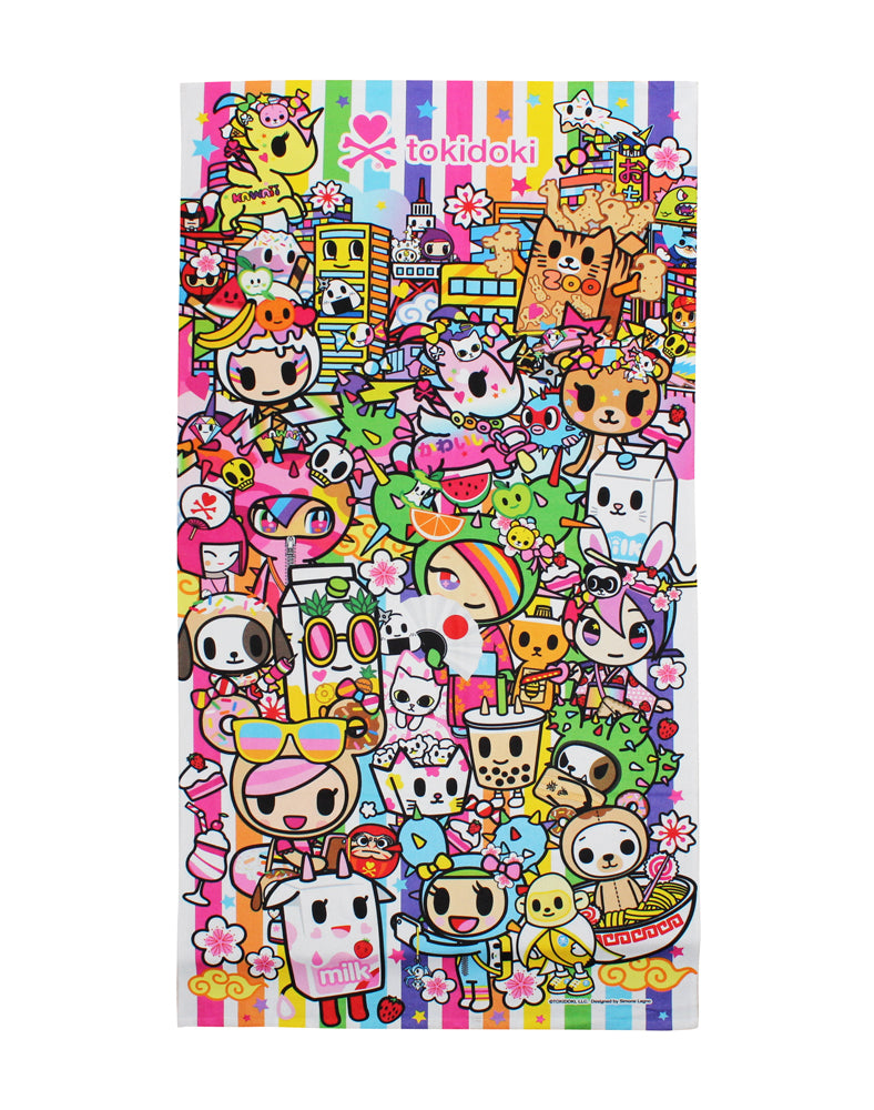 tokidoki-Con Kawaii All-Stars Beach Towel