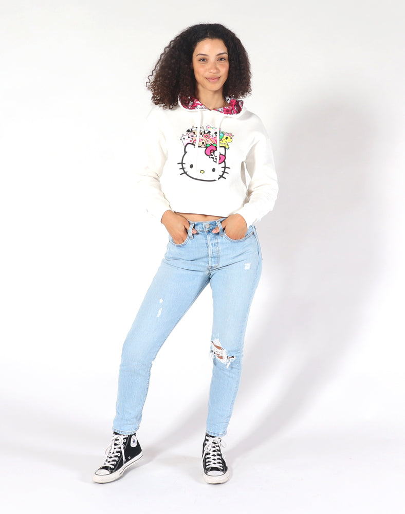 tokidoki x Hello Kitty Kitty Cuddle Cropped Hoodie Full