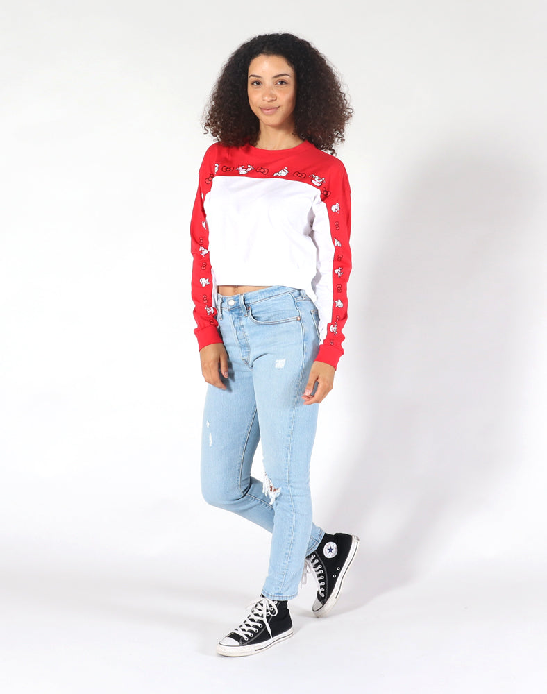 tokidoki x Hello Kitty Kitty Parade Long Sleeve Crop Top Full