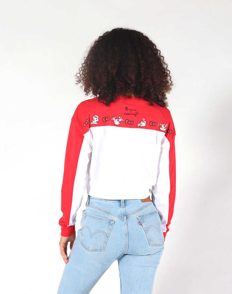 tokidoki x Hello Kitty Kitty Parade Long Sleeve Crop Top Back