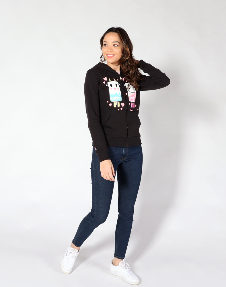 tokidoki x Hello Kitty Latte Kitty Love Hoodie front