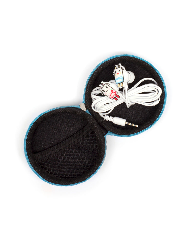 Moofia Earphones in storage case