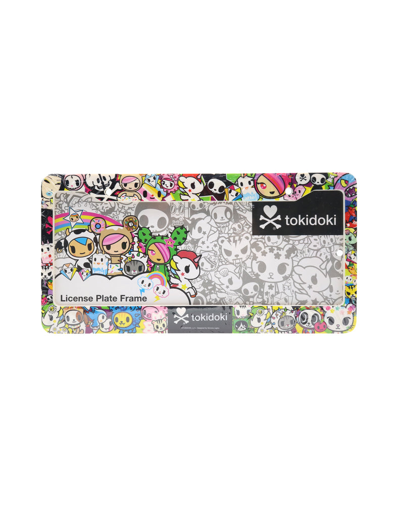 tokidoki All Stars License Plate Holder front close up