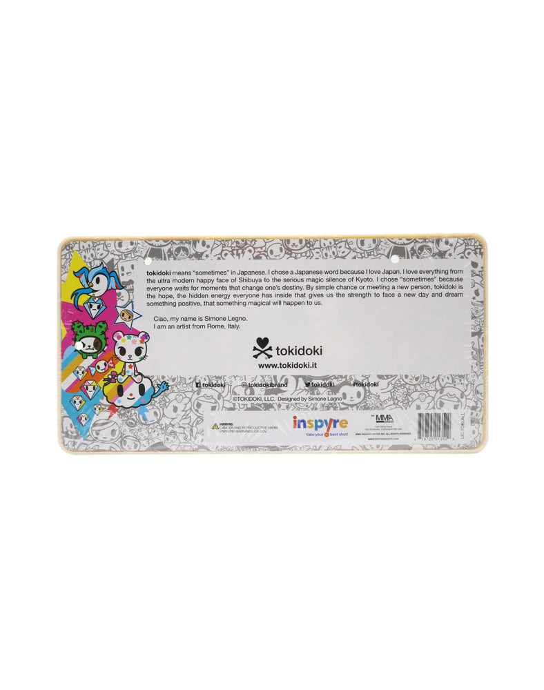 tokidoki All Stars License Plate Holder back in packaging