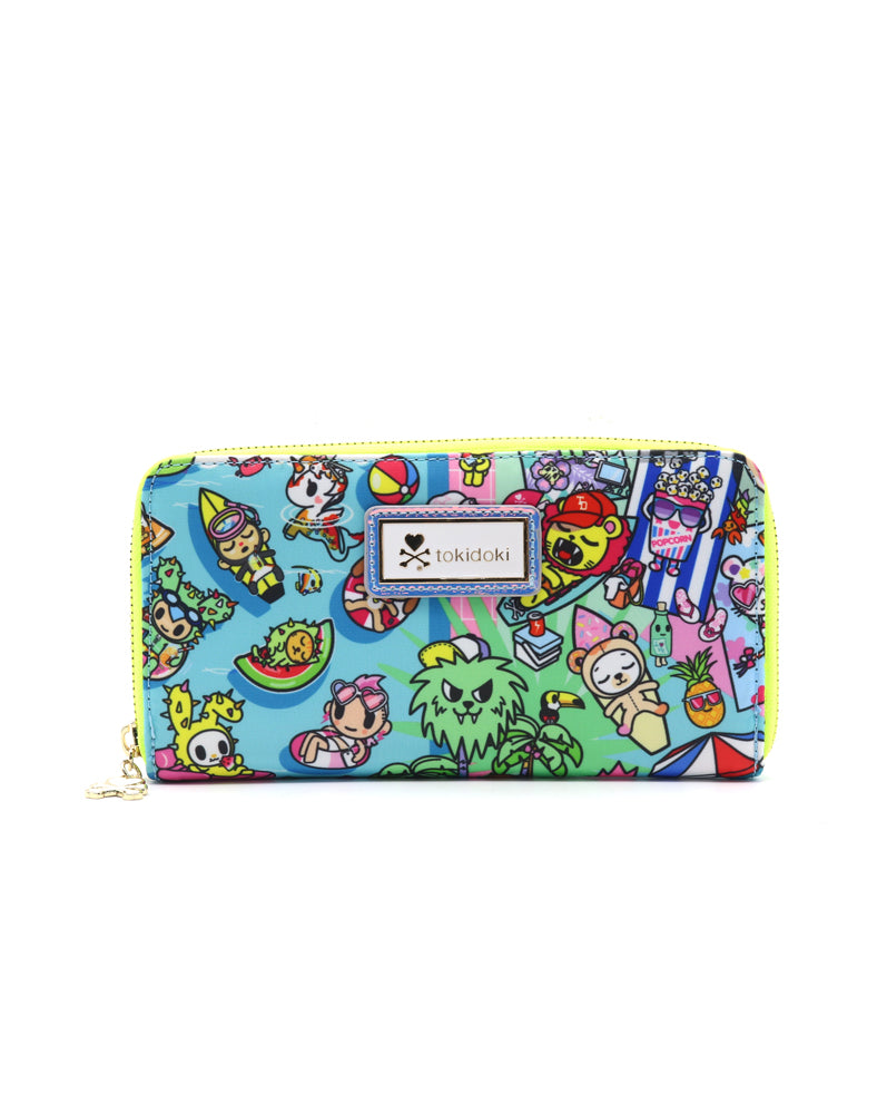Pool Party Long Wallet Front