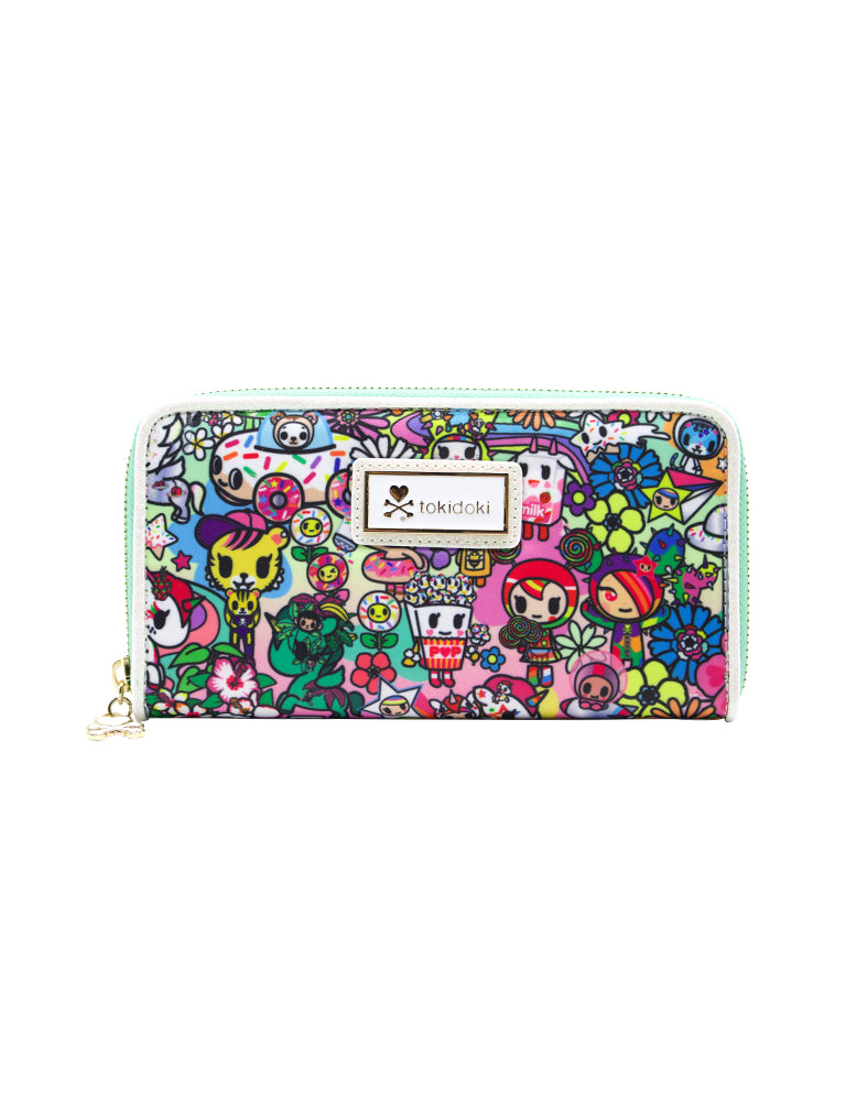 tokidoki Flower Power Long Wallet Front