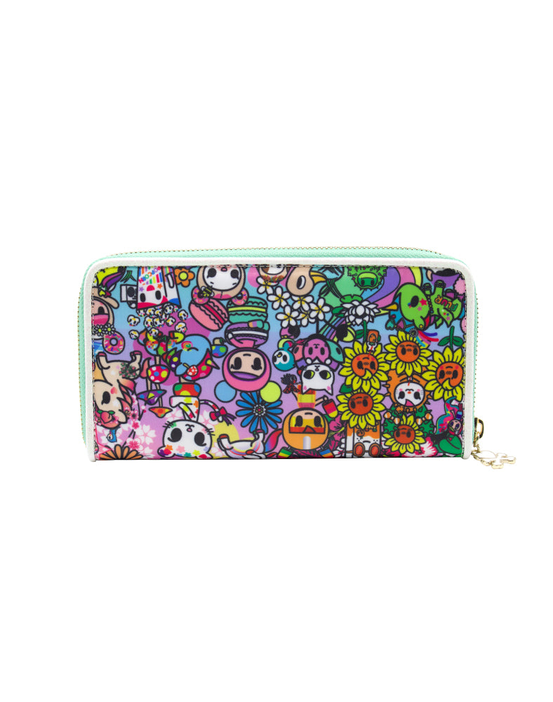 tokidoki Flower Power Long Wallet Back