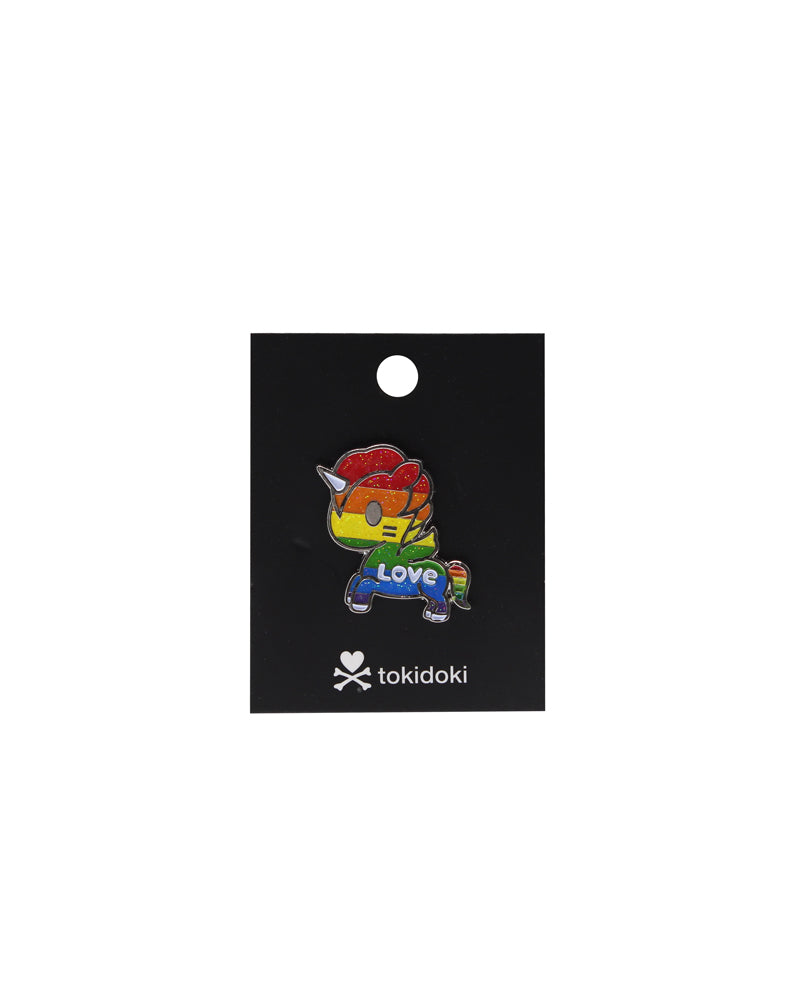 Love Enamel Pride Pin Card Back