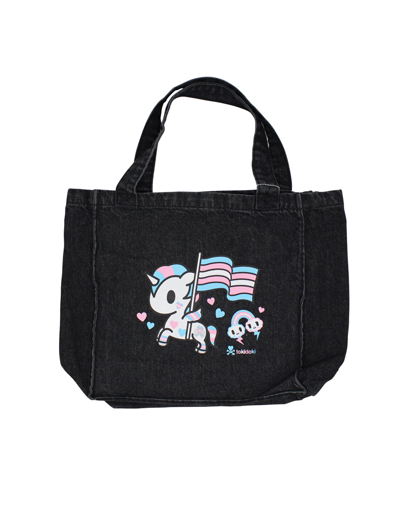 Love Wins Denim Tote Front