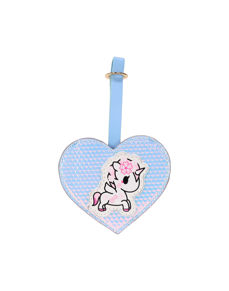 Watercolor Paradise Luggage Tag front featuring Hanako Unicorno