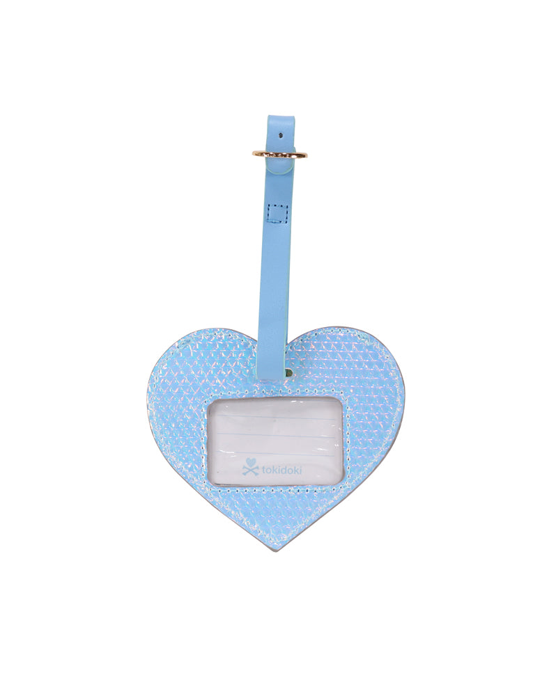 Watercolor Paradise Luggage Tag back