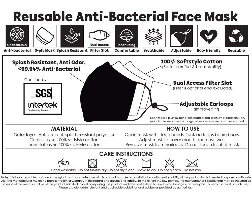 Reusable 3-Ply Mask Information