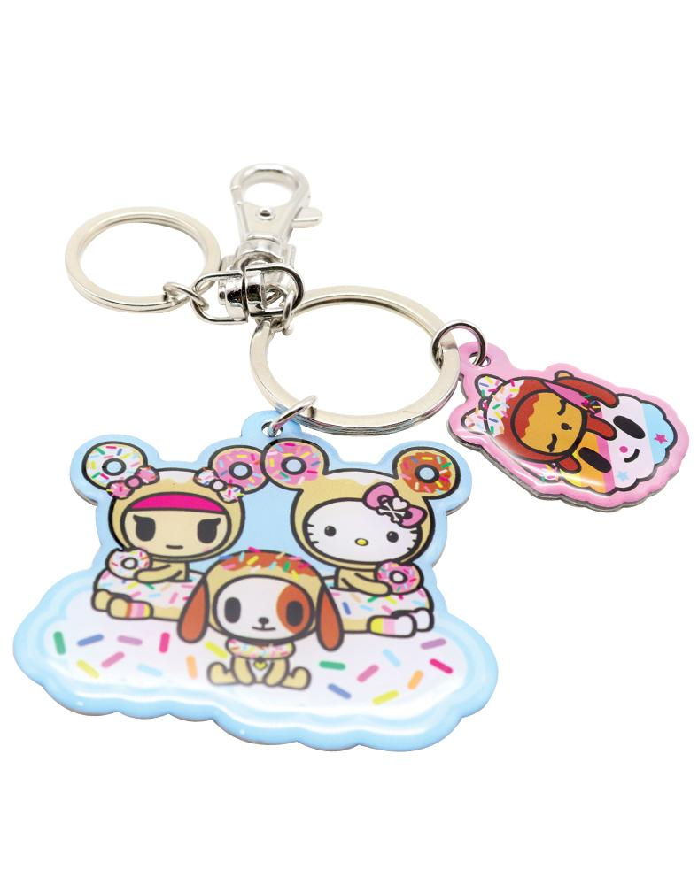 tokidoki x Hello Kitty Sky Blue Metal Keychain