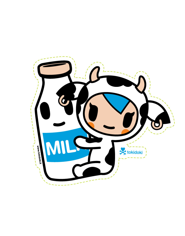 Mozarella Milk Die Cut Sticker