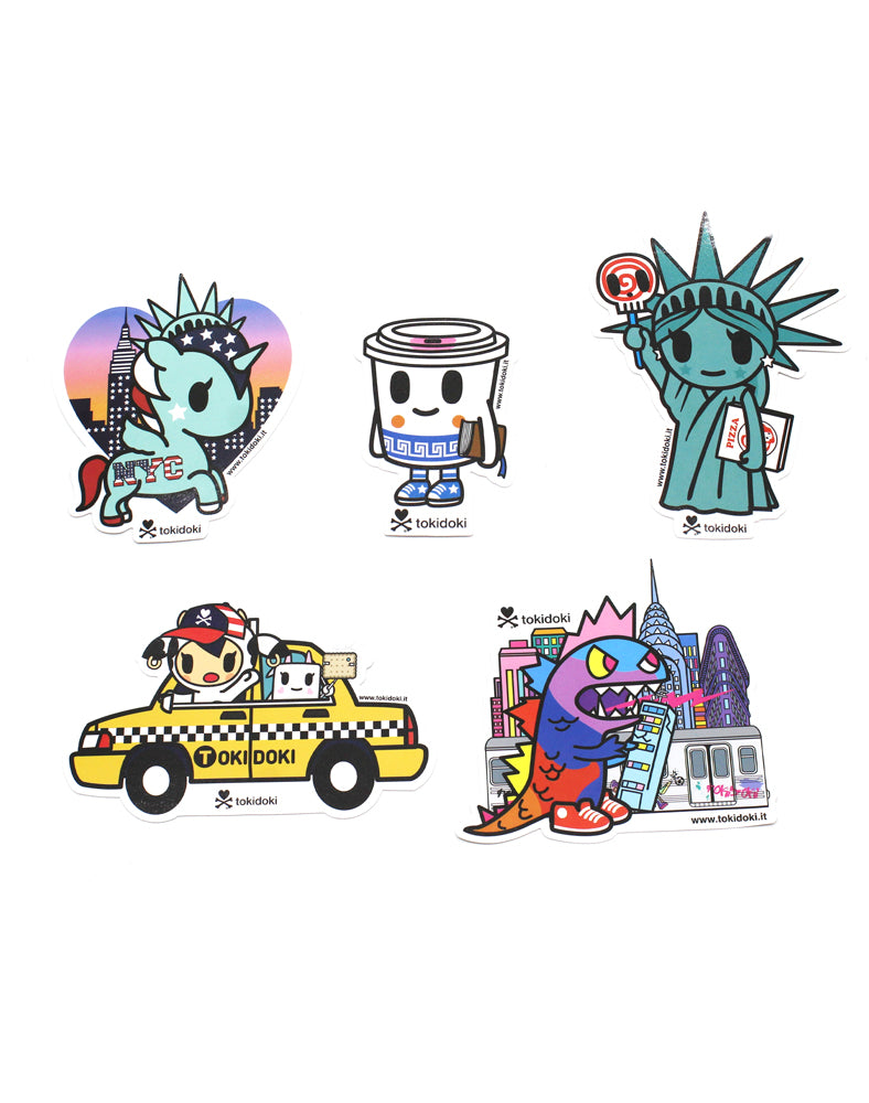 NYC Collection 5 PC Sticker Pack