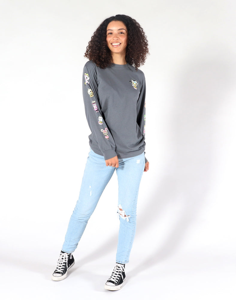 Noodle Sleeves Long Sleeve Tee (Unisex) Full F Model