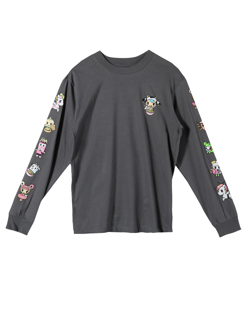Noodle Sleeves Long Sleeve Tee (Unisex) Front