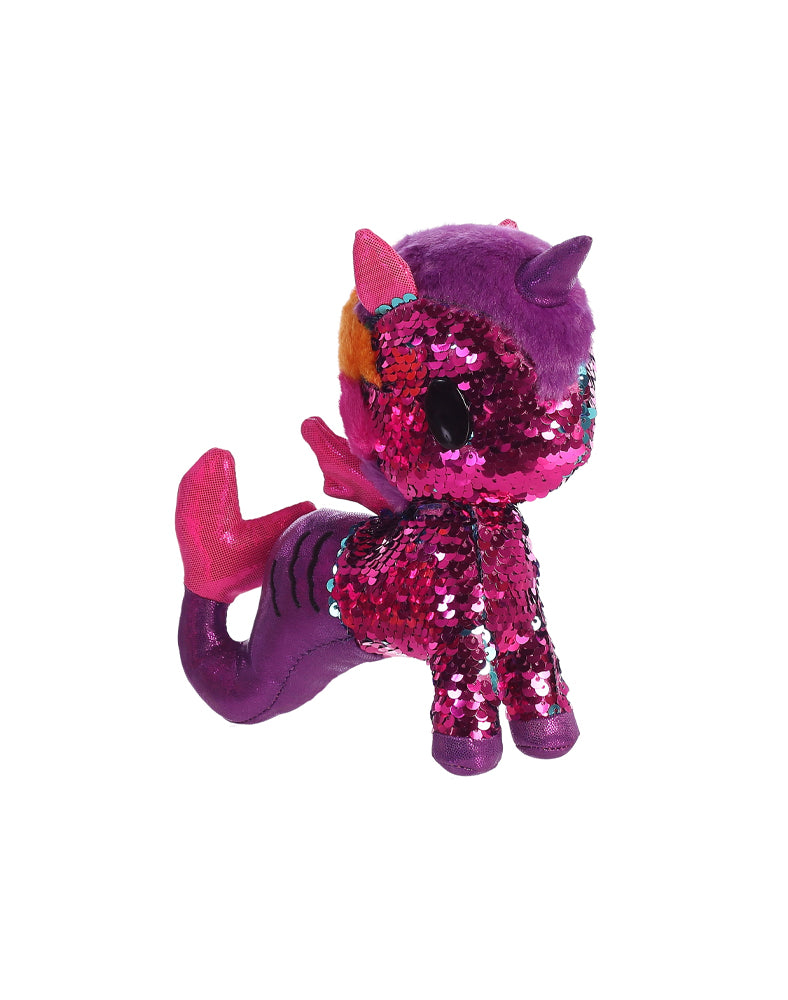 "Oceania Mermicorno 7.5"" Reversible Sequin Plush"